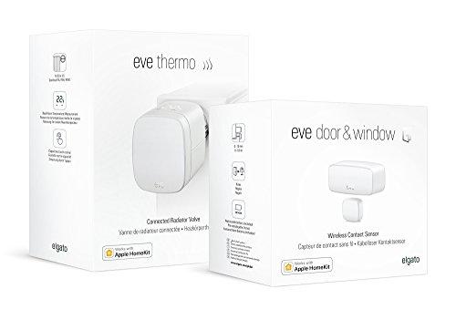 Eve Smart Heizen-Set - Eve Thermo und Eve Door & Window, intelligentes...
