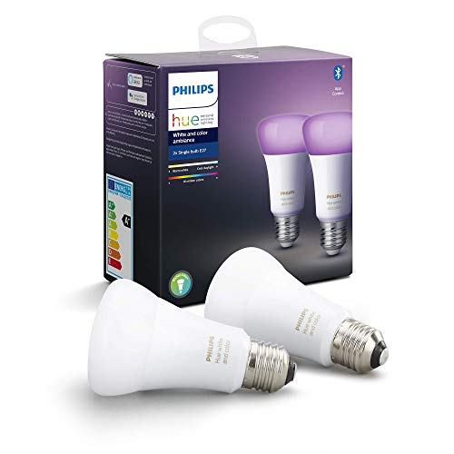 Philips Hue White & Color Ambiance E27 LED Lampe Doppelpack, dimmbar,...