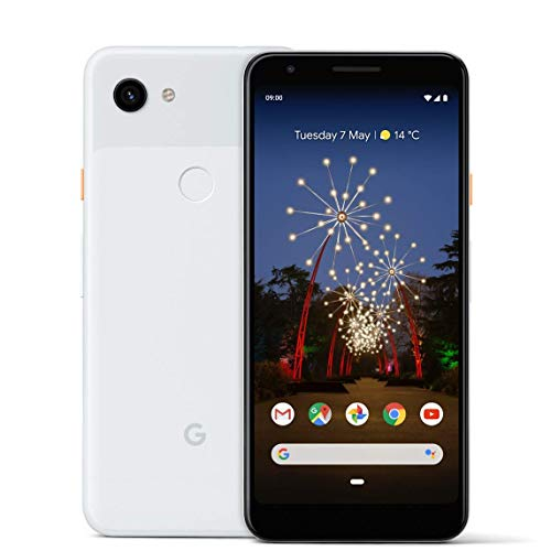 Google Pixel 3A 64GB Smartphone Android 9.0 (3A, Clearly White)...