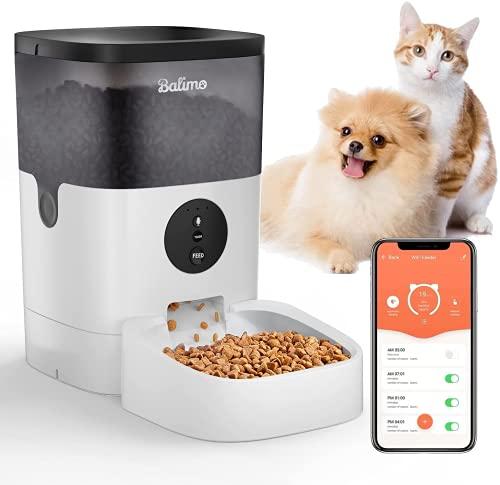 Balimo 4L 2.4G WiFi Automatischer Futterspender für Katze und...