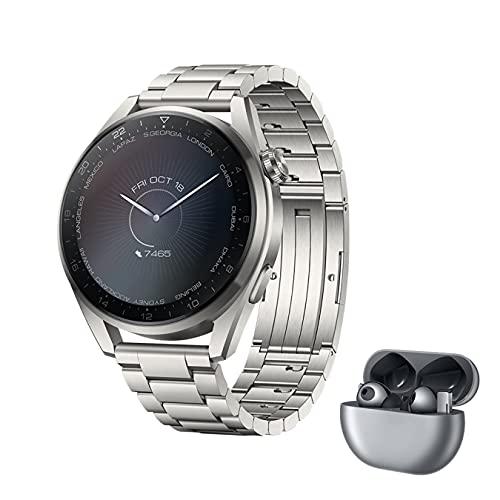 HUAWEI WATCH 3 Pro- 4G Smartwatch, 1.43'' AMOLED Display, eSIM...