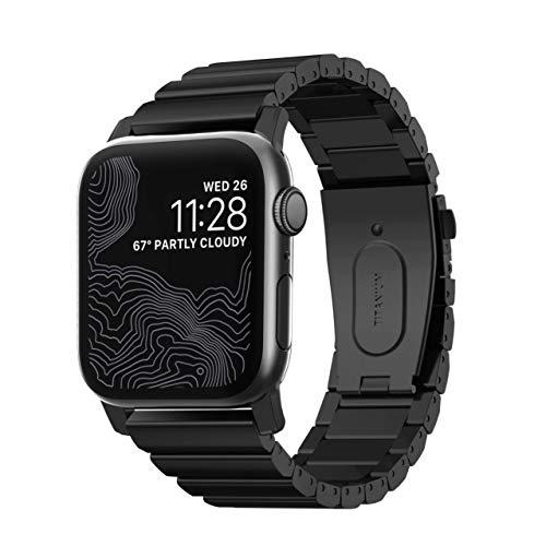 Nomad Strap Titanium Armband für Apple Watch 42/44mm schwarz