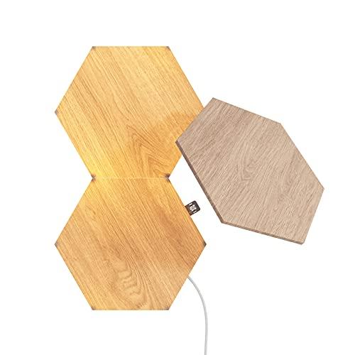 Nanoleaf Elements Wood Look Hexagons Expansion Pack - 3 zusätzliche...