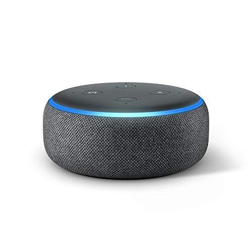 Echo Dot (3. Gen.) Intelligenter Lautsprecher mit Alexa, Anthrazit...