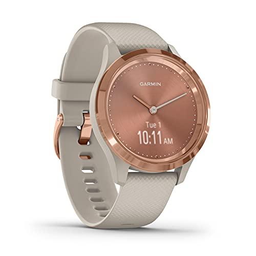 Garmin vívomove 3S – schlanke, stilvolle Hybrid-Smartwatch mit...