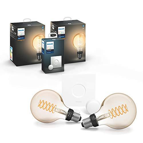 Philips Hue White Filament E27 LED Globe 2-er Pack inkl. Hue Smart...