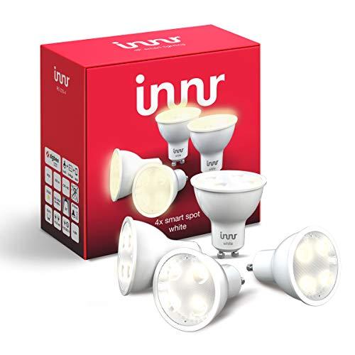 Innr GU10 Smart LED Spot, warmweißes Licht, dimmbar, kompatibel mit...