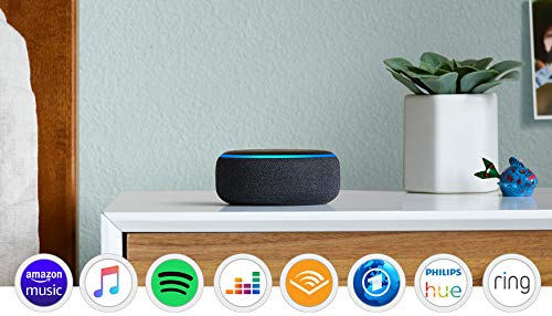 Echo Dot (3. Gen.) Intelligenter Lautsprecher mit Alexa, Anthrazit...