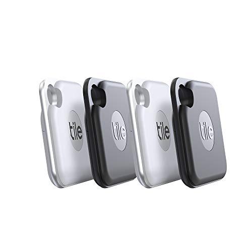 Tile Pro (2020) Bluetooth Schlüsselfinder, 4er Pack, 120m Reichweite,...