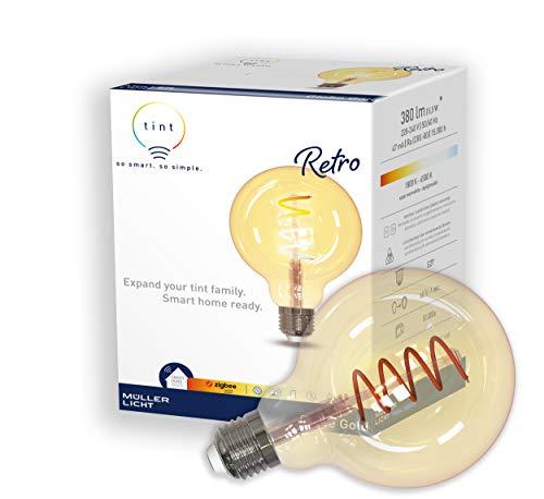 E27 Smart LED lampe tint G95 5,5W 1800K-6500K dimmbar