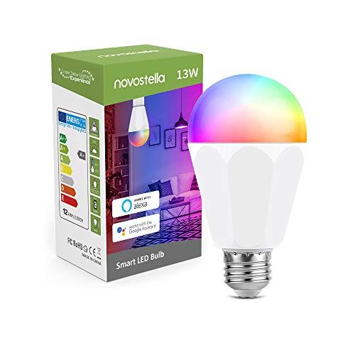 Smart LED Lampe 13W 1300LM, Novostella Alexa Glühbirne LED E27...