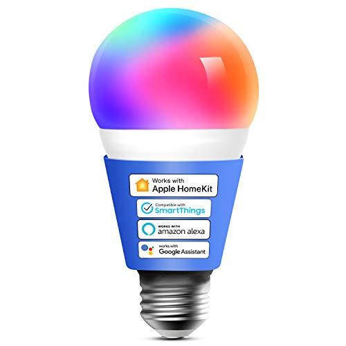 Smart WLAN Glühbirne funktioniert mit Apple HomeKit, Meross Wifi...