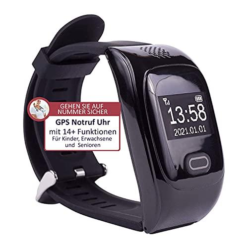 tellimed Solino - GPS Senioren Notruf Uhr - Zuverlässige & einfache...
