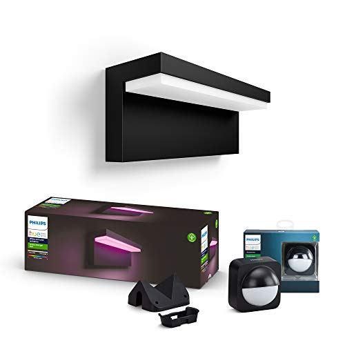 Philips Hue White and Color Ambiance LED Außenwandleuchte Nyro inkl....