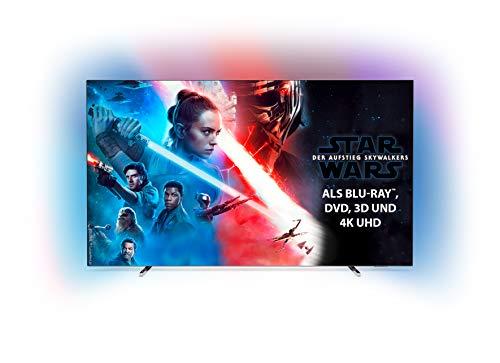 Philips Ambilight 55OLED804 139 cm (55 Zoll) OLED TV (4K UHD, HDR10+,...