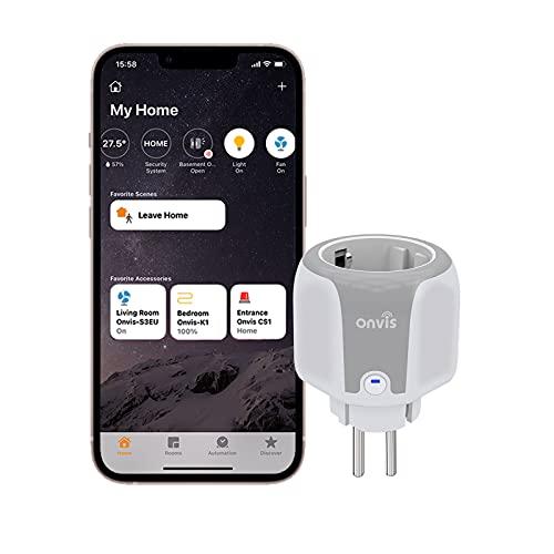 Onvis Smart Steckdose HomeKit Intelligente Plug, 2,4 GHz WLAN...