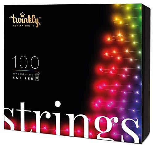 Twinkly - TWS100STP 100 RGB-Multicolor-LED Lichterkette -...