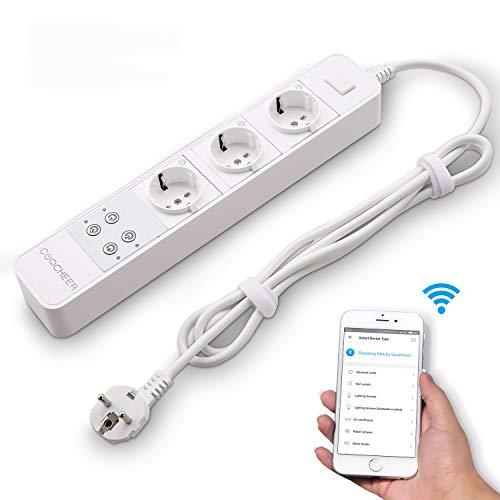 Smart Steckdosenleiste,Steckdosenleiste Alexa mit Überspannungsschutz...