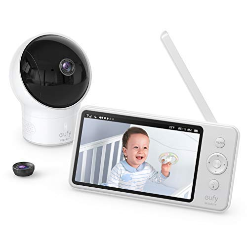 eufy Security SpaceView Babyphone mit 5 Zoll LCD-Display, 720 HD, 140m...