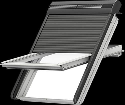 VELUX Solar-Rollladen SSL 0000S Aluminium dunkelgrau