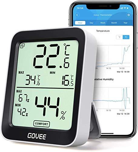 Govee Thermometer Hygrometer, Mini LCD Digital Thermometer Hygrometer...