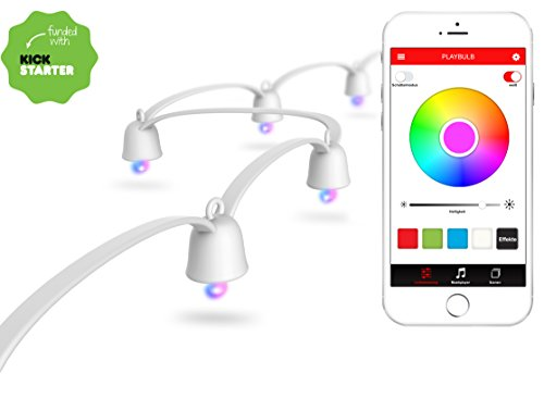 MiPow Playbulb String - LED Lichterkette Weihnachtsbeleuchtung,...