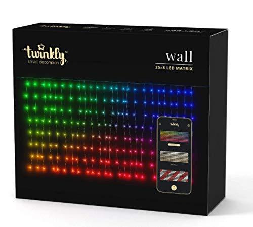Twinkly LED-Vorhang Wall, 200 LEDs, 250 x 80 cm, via App steuerbar