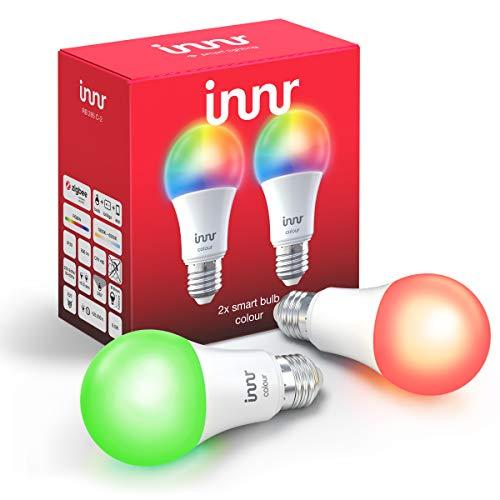 Innr E27 Smart LED Lampe, Color, kompatibel mit Philips Hue* und Alexa...