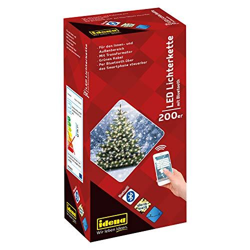 Idena 31099 - LED Lichterkette mit 200 LED in warmweiß, per...
