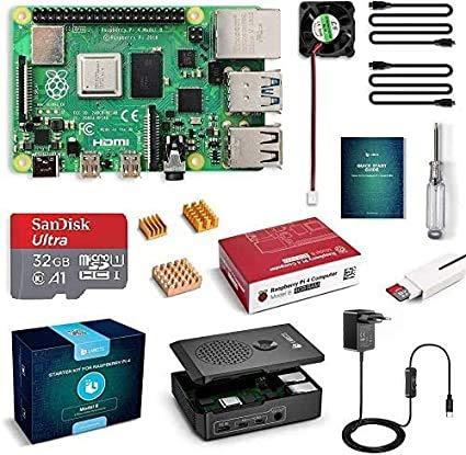 LABISTS Raspberry Pi 4 Model B 4 GB Ultimatives Kit mit 32GB Class10...