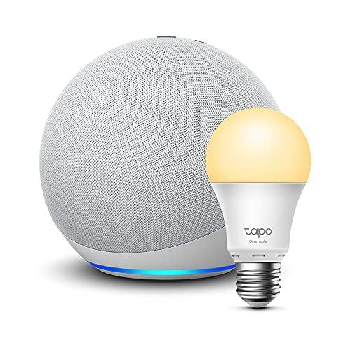 Echo (4. Generation)   Mit herausragendem Klang   Weiß + TP-Link Tapo...