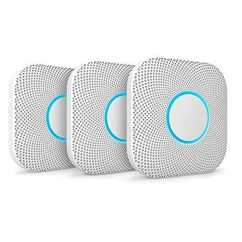 Google Nest Protect, Weiß, 3er Pack, Der Rauchmelder, der spricht und...
