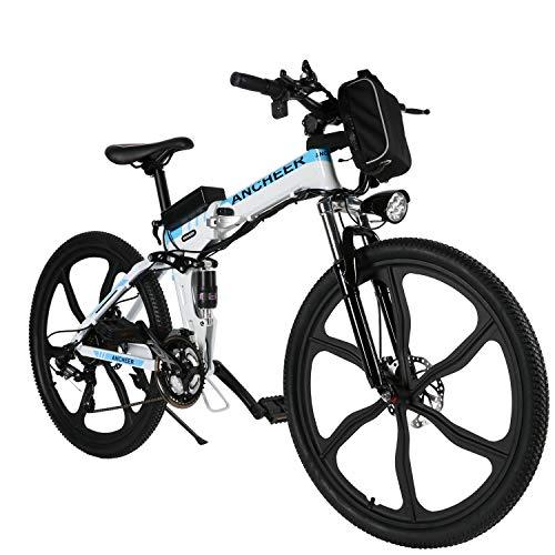 ANCHEER 26 Zoll E-Bike Mountainbike 250W Motor 36V 8AH Lithium Akku...
