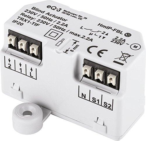 Homematic IP 151398A0 HmIP-FBL Jalousieaktor-Unterputz, 230 V