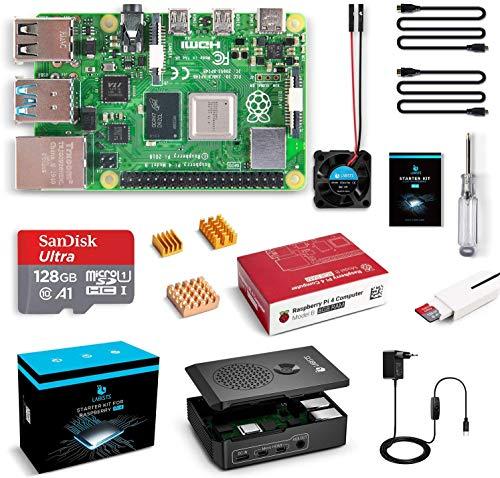 LABISTS Raspberry Pi 4 Model B 8 GB Ultimatives Kit mit 128GB Class10...