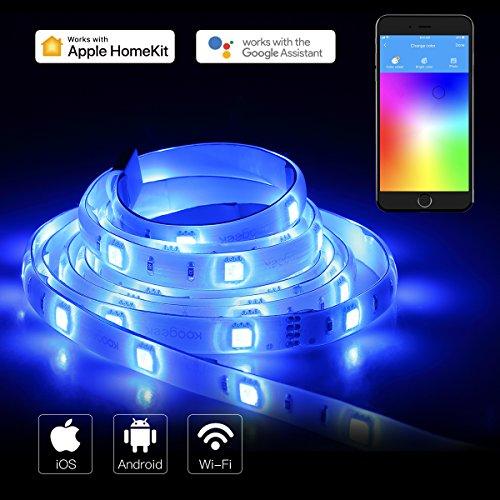 Koogeek Wifi Smart LED Strip mit 2m mit Alexa Google Assistant Apple...
