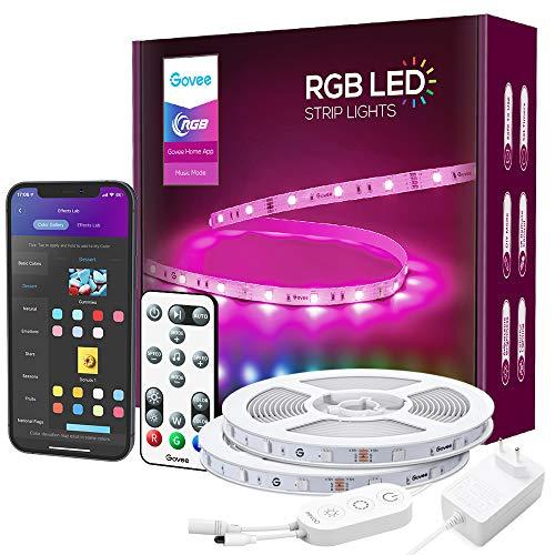 Govee LED Strip RGB 15m Alexa LED Streifen Smart WiFi Leuchten mit...