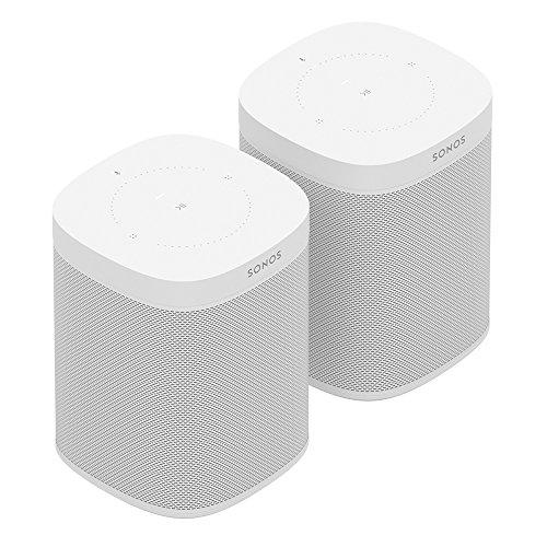 Sonos One Smart Speaker 2-Raum Set, weiß – Intelligente WLAN...