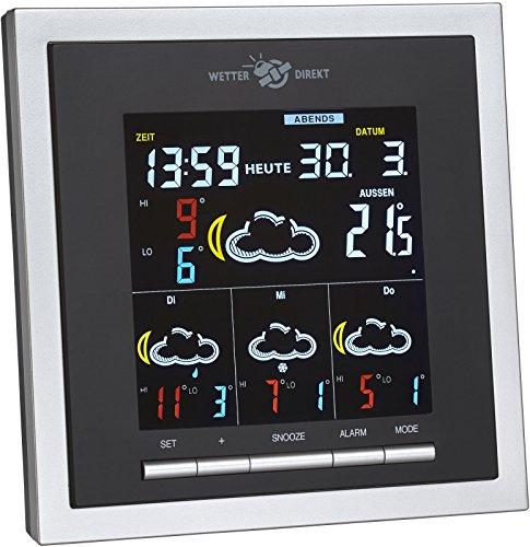 TFA Dostmann Helios Color Wetterstation, für Innen und Außen mit...