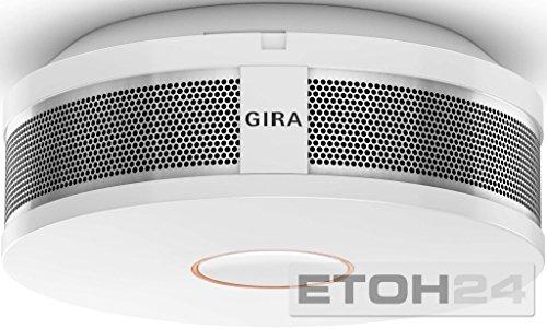 Gira Rauchwarnmelder Dual Q DIN14604, vernetzbar über Funk und Draht,...