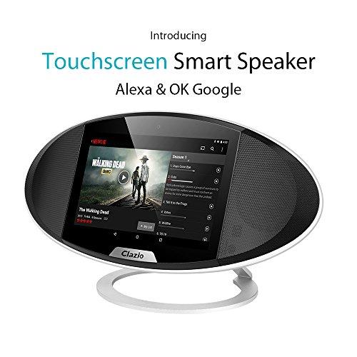Clazio WiFi Android 6.0 mit 7'Bildschirm Portable Smart Speaker mit...