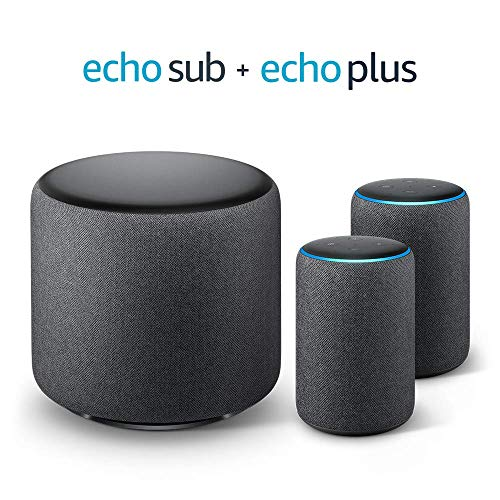 Echo Plus Stereo-System - 2 Echo Plus-Geräte (2. Gen.), Anthrazit...