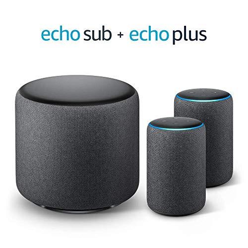 Echo Plus Stereo-System - 2 Echo Plus-Geräte (2. Gen.), Anthrazit...