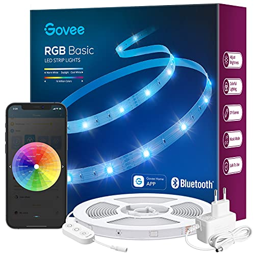 Govee LED Strip 10m, Bluetooth RGB LED Streifen, Farbwechsel, Musik...