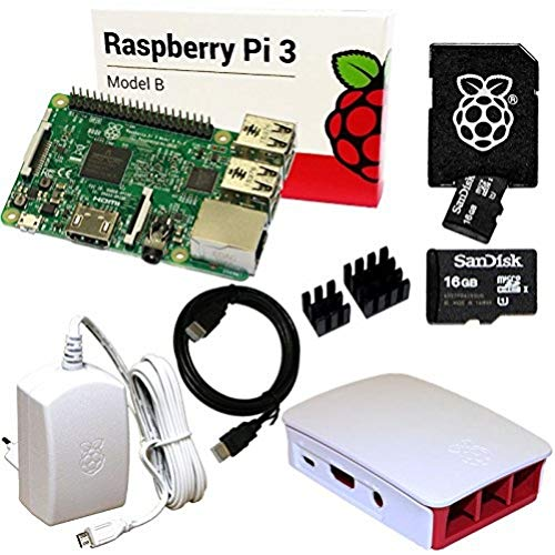 Raspberry Pi 3 Set mit 16 GB SD-Karte, HDMI, original Netzteil und...