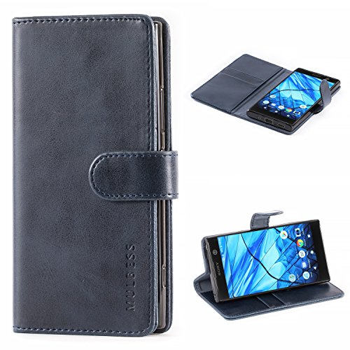 Mulbess Handyhülle für Sony Xperia XA2 Hülle Leder, Sony Xperia XA2...