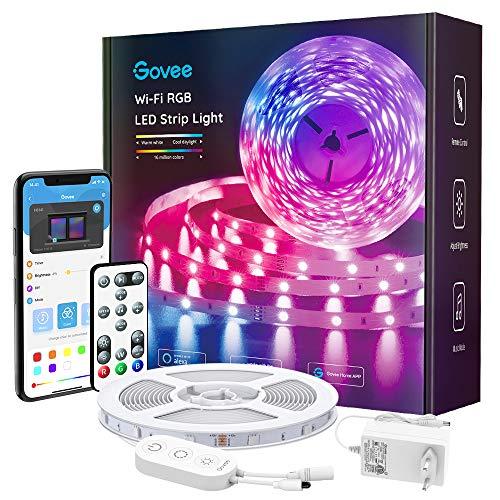 Govee Smart LED Strip, WiFi RGB LED Streifen 5m, steuerbar via App und...