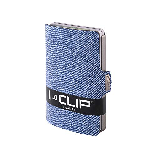 I-CLIP Original Silver Denim Blue, Geldbörse, Kartenetui, Wallet