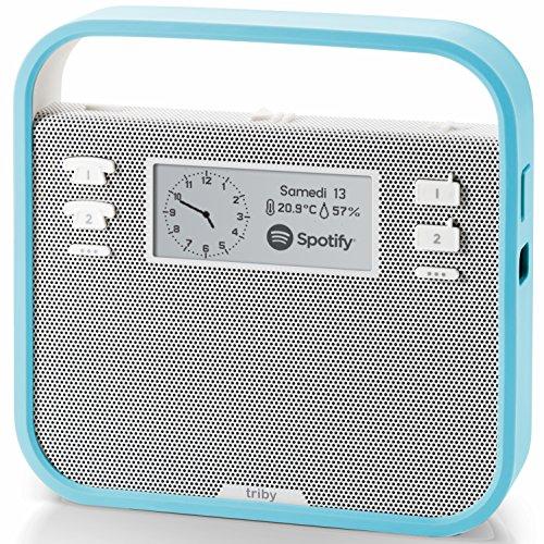 invoxia Tragbarer Smart-Lautsprecher mit Alexa-Integration, Blau