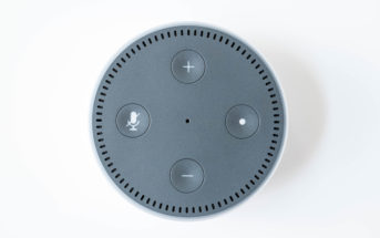 Amazon Echo Dot 2 weiß oben